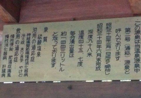 伊香保温泉第二号源泉の説明パネル
