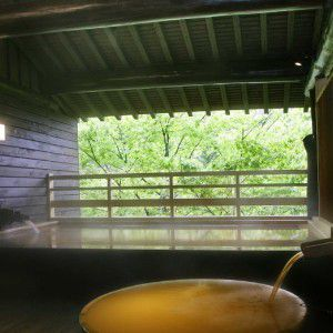 岸権旅館の露天風呂