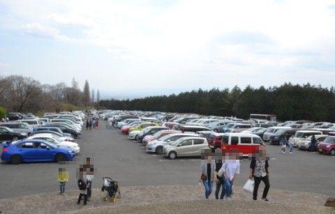 満車状態の駐車場の様子
