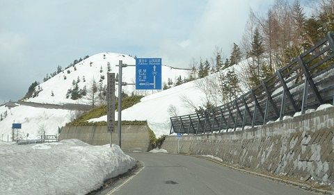 国道466号線との交差点付近