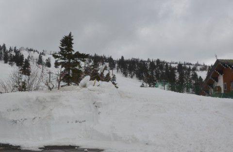 渋峠スキー場の様子