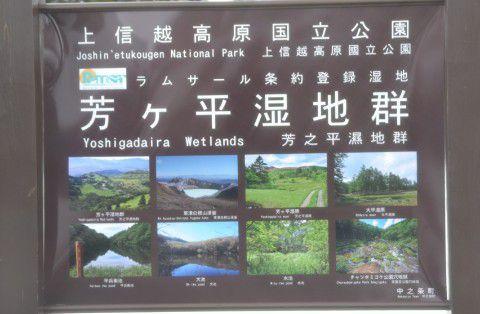 芳ヶ原湿地群の説明パネル