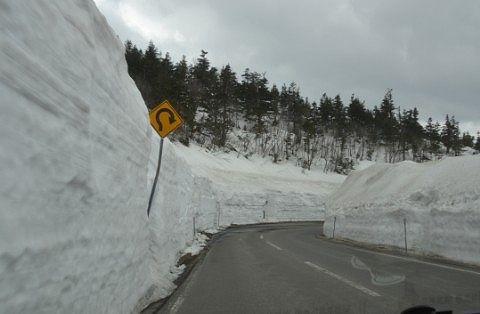 長野県側の雪の回廊
