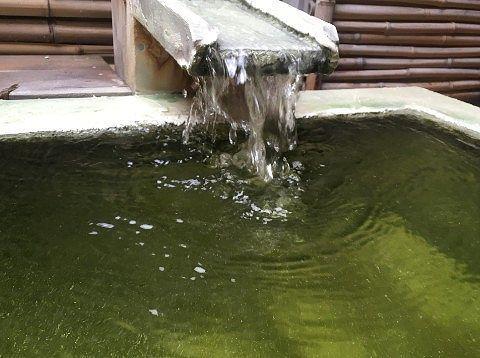 熊の湯温泉の注ぎ口