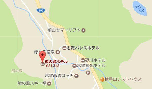 熊の湯ホテル地図