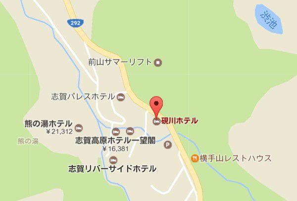 硯川ホテル地図