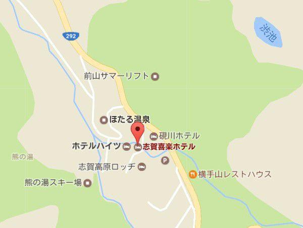 志賀喜楽ホテル地図