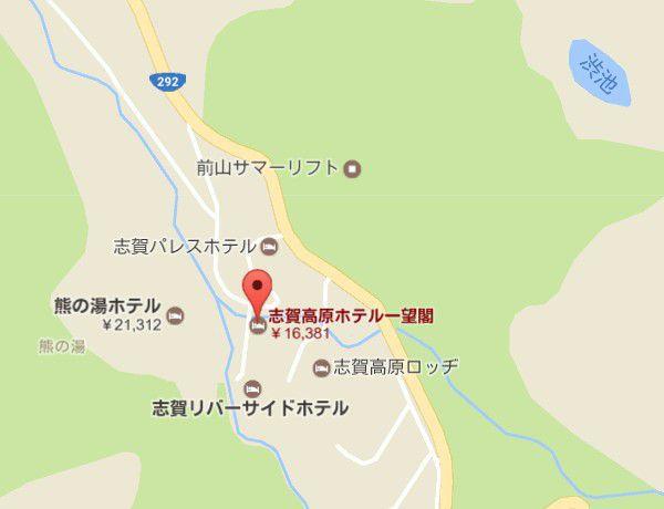 ホテル一望閣地図