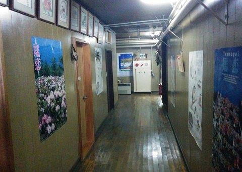 豊国館の廊下