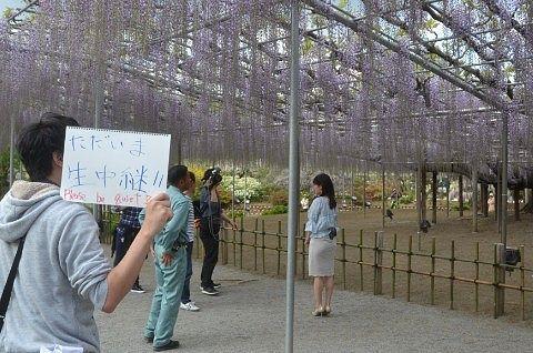 テレビ東京の中継の様子