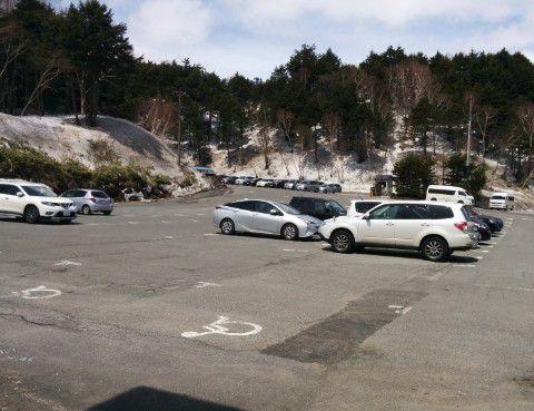 プリンスホテルの駐車場の様子