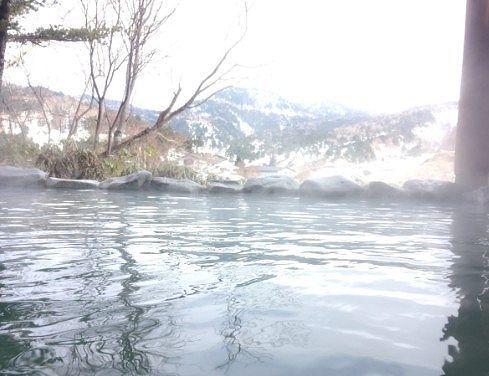 しゃくなげの湯露天風呂からの景色