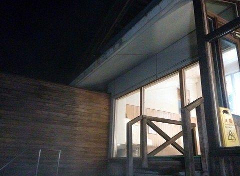 内湯側のガラス窓