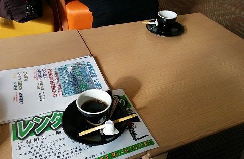 コーヒーのウエルカムドリンクの様子