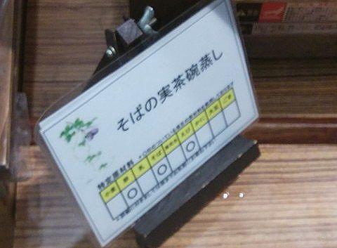 メニュー札の原材料表示