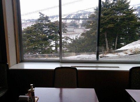 バイキング会場の窓からの景色