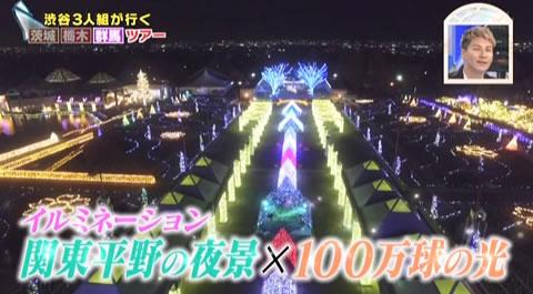 関東平野の夜景+100万球の光のイルミネーション
