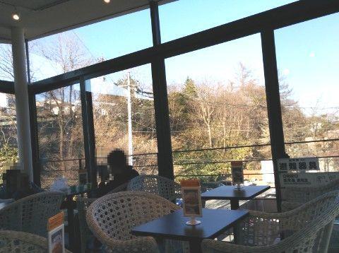 3階のテーブル席からの景色