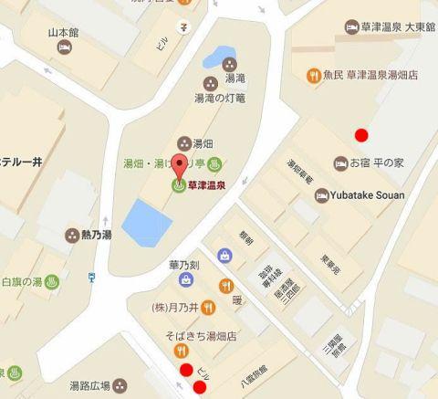 射的屋さんの場所の地図