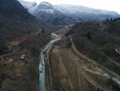 吾妻川と山々の絶景