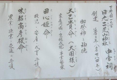 日光二荒山神社の神様とご利益