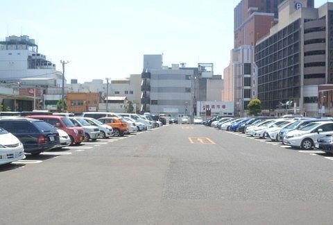 満車の前橋中央駐車場の様子