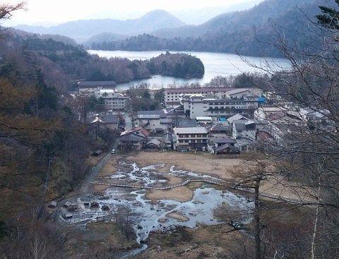 日光湯元温泉全景