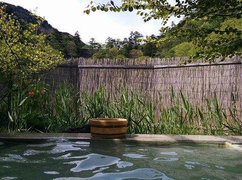 露天風呂に入浴した時の景色