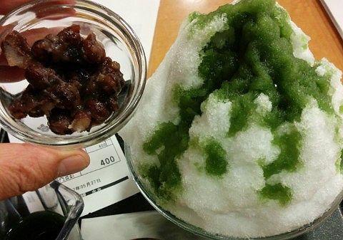 小豆抹茶カキ氷