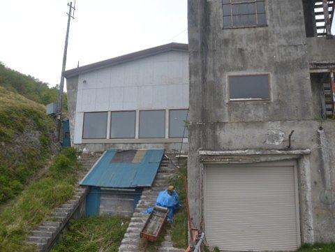 山側見た旧赤城山頂駅