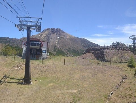 山頂駅と日光白根山