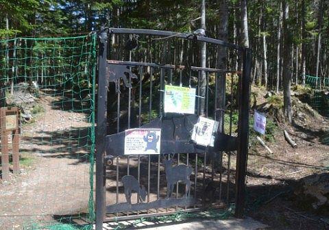 登山道入り口のゲート