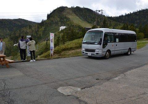 山頂駅の無料バス