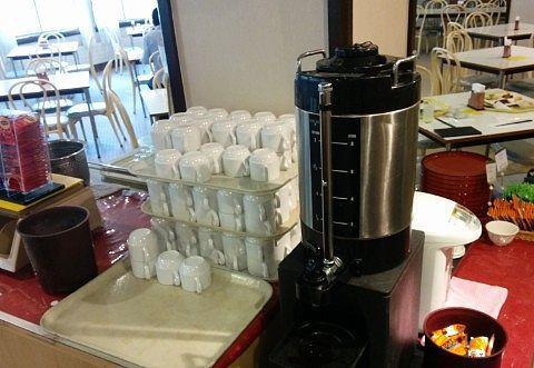 ホットコーヒーや紅茶、お茶の飲み放題