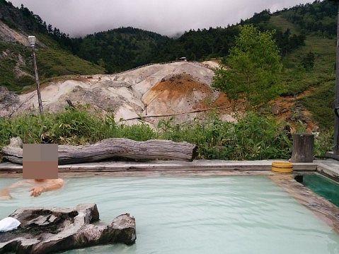露天風呂と景色