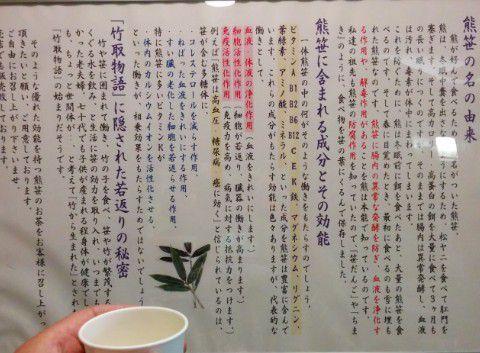 熊笹茶の成分や効能