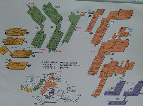 日進舘館内マップ
