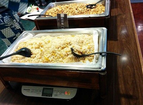 鮭チャーハン、麻婆豆腐