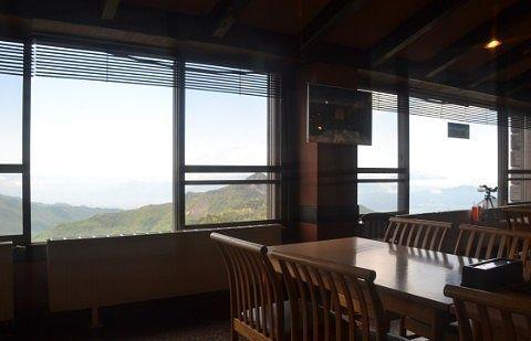 レストラン内から見える景色