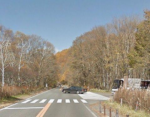 国道120号線光徳入口の交差点