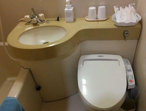 シャワートイレと洗面台