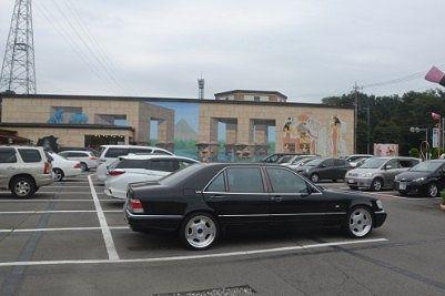 無料駐車場の様子