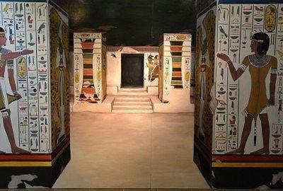 エジプトの間のトリックアート