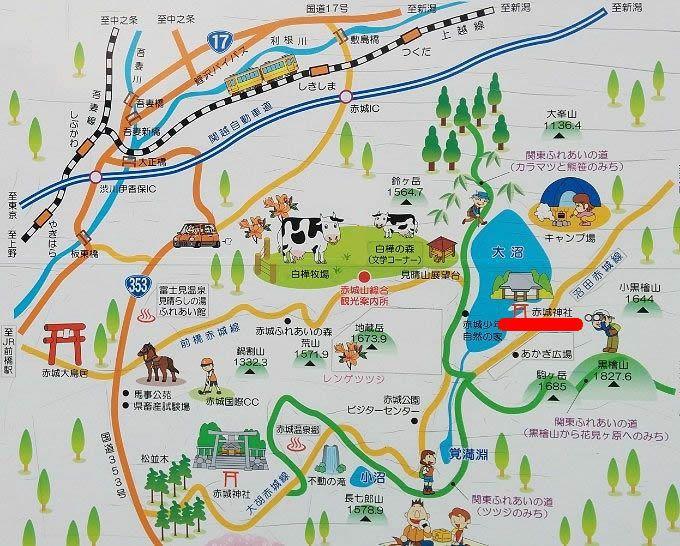 赤城山マップ
