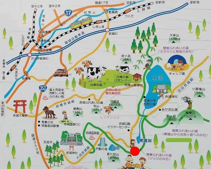 赤城山観光マップ