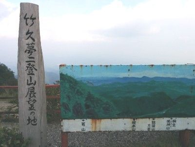 竹下夢二登山展望の地の碑