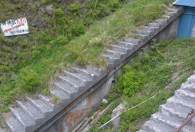 急斜面にあった赤城山頂駅跡