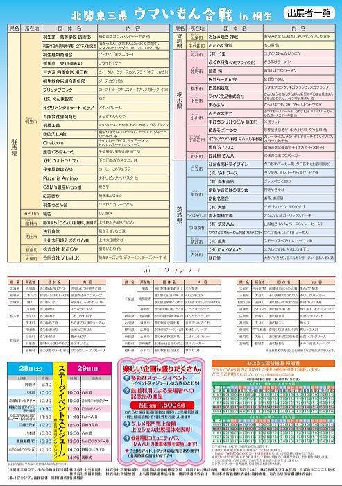2017北関東三県ウマいもん合戦in桐生の出店一覧とイベントスケジュール
