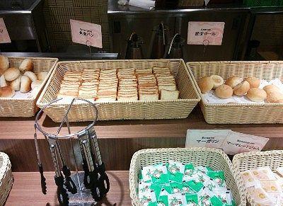 レーズンパン、クロワッサン、胚芽ロール、食パン