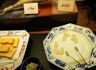 笹かまぼこ、卵焼き